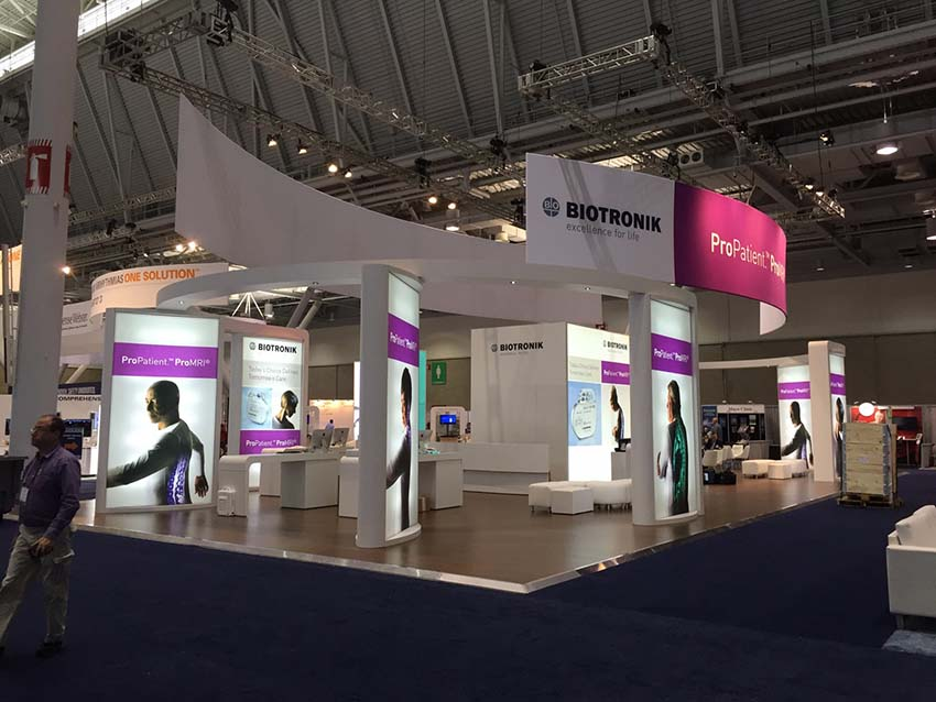 Pharmaceutical Exhibition Stand Design : Biotronik exhibition stand design hrs applemed