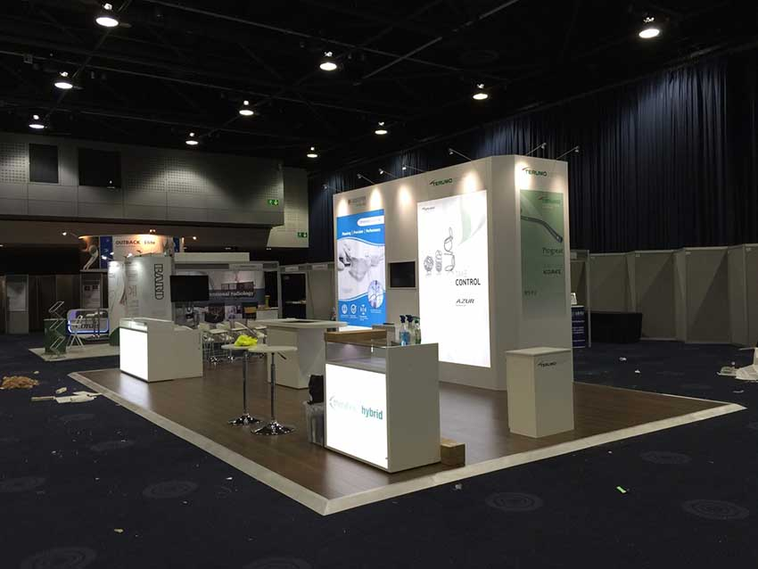 vascutek medical exhibition stand